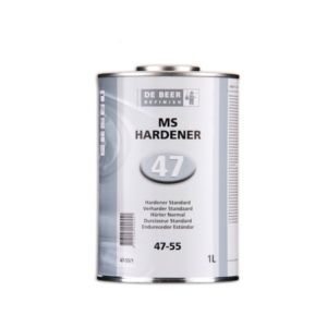 Image of a tin of De Beer 47-55 MS Hardener Standard 1 Litre