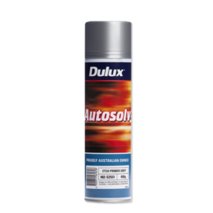 Image of a spraycan of a Dulux Autosolv 1K Etch Primer Grey