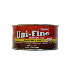 Image of a tin of HB Body 225 Uni Fine putty