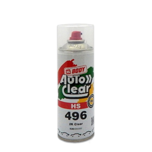 Image of a tin of HB Body 2496 HS Clear spray can