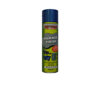 Image a spray can of Septone Hammer Metallic Blue