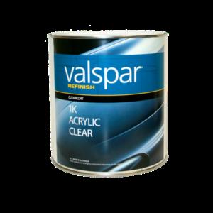 Image of a tin of Valspar Refinish 1K acrylic clear 3.78 Litre