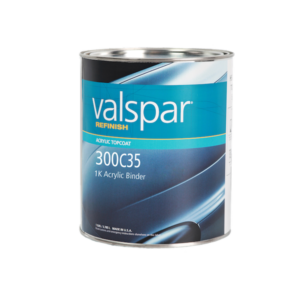 Image of a tin of Valspar Refinish 300c35 1k Acrylic Binder 3.78 Litre