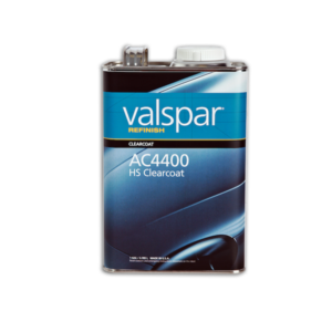 Image of a tin of Valspar Refinish ac4400 HS Clearcoat 3.78 Litre