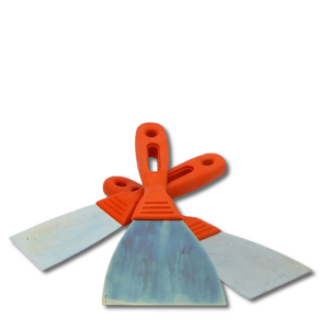 image of orange putty knifes