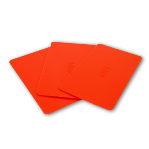 image of red plastic applicators