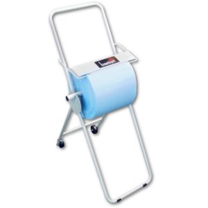 image of bastion blue wipes with wipes stand