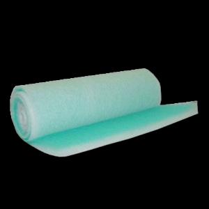 image of green fibreglass exhaust floor filter