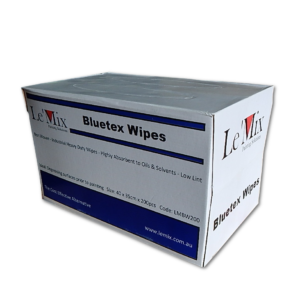 image of blue polytex wipes box